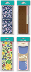 "B-THERE 8 Pack Tall Notepad Set - 8.25"" H x 2.93"" W, 4 Assorted Designs for Checklists, Shopping Lists, Grocery Lists"