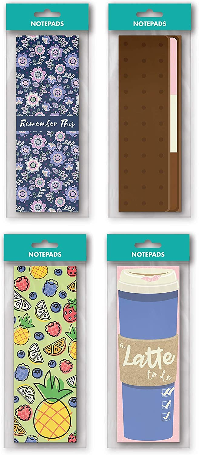 B-THERE 8 Pack Tall Notepad Set - 8.25