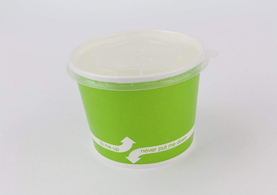 100 Count Green Deli Containers Durable Food Storage Containers with Lids Hot and Cold Disposable 16oz Containers Use for Frozen Desserts, Soups, or Any Food of Your Choice