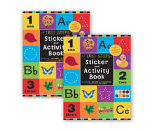 Load image into Gallery viewer, B-THERE Bundle of 2 Sticker Activity Books, Included 2 First Steps Sticker Activity Book. Early Education Books for Kids,Young Children, Toddlers, Preschool Students.