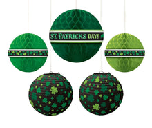 Load image into Gallery viewer, Amscan Party Supplies, St. Patrick's Day Hanging Bouquet, Party Decorations, Multisizes, Green, 5ct