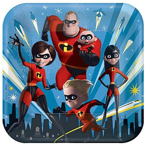Incredibles 2 Party Pack Seats 16 - Napkins, Plates, Cups, Tablecloth and Stickers - Incredibles 2 Party Supplies, Deluxe Party Pack