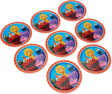 "Load image into Gallery viewer, Amscan 551672 Sesame Street Birthday, Round Paper Plates, 9"", 8 Ct."