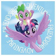 Load image into Gallery viewer, Party Pack Bundle - My Little Pony Friendship Adventures Party Bundle Seats 8: Napkins, Plates, Cups and Stickers - Childrens My Little Pony Party Supplies