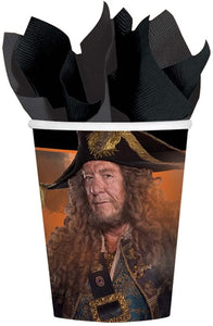 Amscan Disney Pirates Of The Caribbean Cups, 9 oz