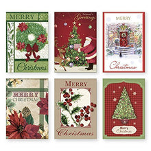 Load image into Gallery viewer, 36 Count Boxed Christmas Cards - Bulk Holiday Cards with Envelopes. 6 Different Designs, 36 Cards Total