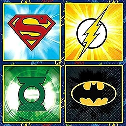 amscan Justice League Beverage Napkins