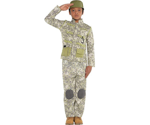 Amscan Combat Soldier Halloween Costume for Boys, Large, with Included Accessories