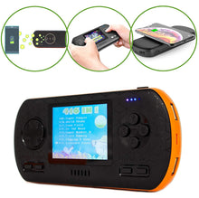 Load image into Gallery viewer, B-THERE Game Power Bank Console 3-in-1-416 Retro Video Games- Wireless Qi Charging - 8000mAh USB Portable Charger Battery - 2.8' Color Screen - for Phone, Tablet & More (Black & Orange)