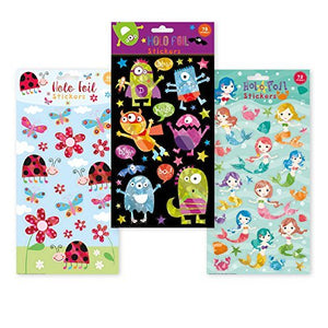B-THERE Holographic Foil Stickers of Lady Bugs, Mermaids, Flowers and Creatures