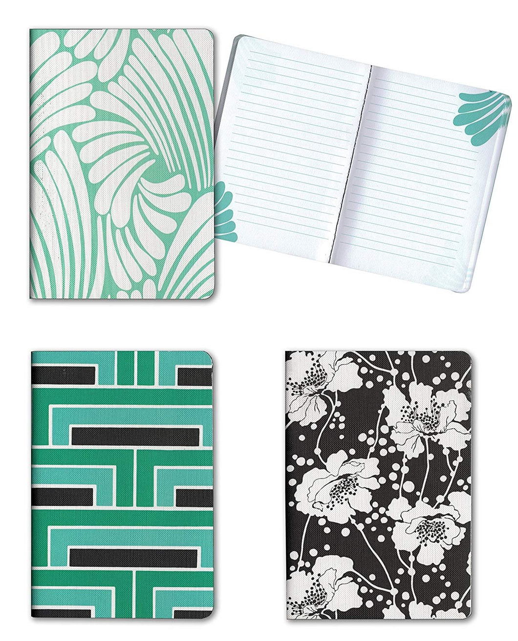 Set of 3 Florence Broadhurst Pocket Journals (Spot Floral) - 96 Lined Pages in each Notebook - 4.25