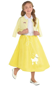 Girls Grease Summer Nights Sandy Costume - Small (4-6) Yellow