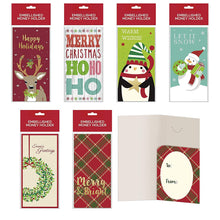 Load image into Gallery viewer, B-THERE Bundle of Assorted Embellished Holiday Gift Cards, Money Holders Set of 6 Cards for Christmas Gifting