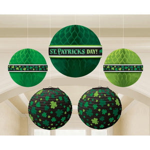 Amscan Party Supplies, St. Patrick's Day Hanging Bouquet, Party Decorations, Multisizes, Green, 5ct