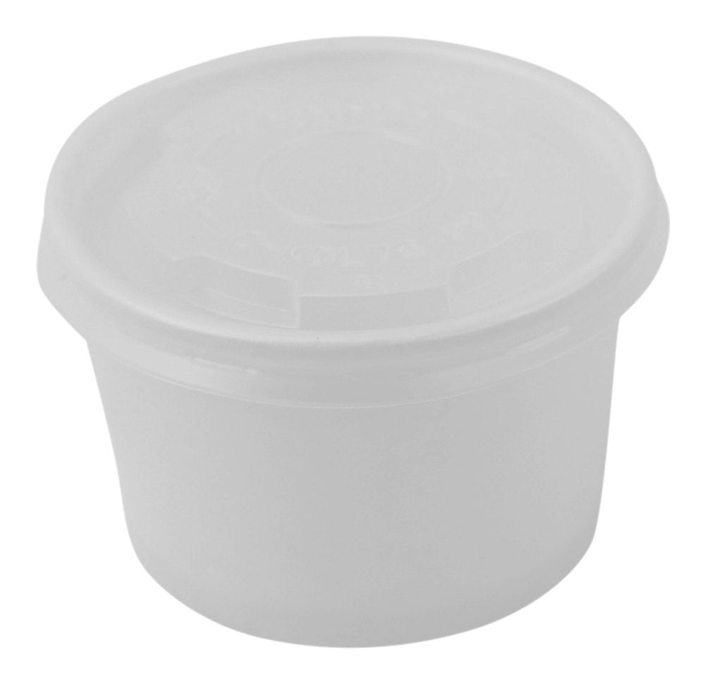 100 Count Deli Containers 4oz Durable Food Storage Containers with Lids, Hot and