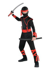 Amscan Boys Shadow Ninja Costume - Medium (8-10) Black, One Size