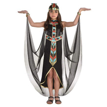 Load image into Gallery viewer, Amscan Girls Dark Cleopatra Costume - Large (12-14) Black