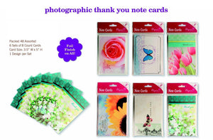 Assorted Thank You Appreciation Cards Bulk Blank Note Cards Set 48 Pack Assortment & 6 Designs, Baby Shower, Wedding, Bridal Shower, Condolence, Butterfly, Flower