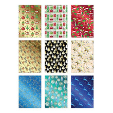 Load image into Gallery viewer, Bundle of 9 Rolls of Christmas Gift Wrapping Paper - 225 Total Sq Ft of Xmas Wrap