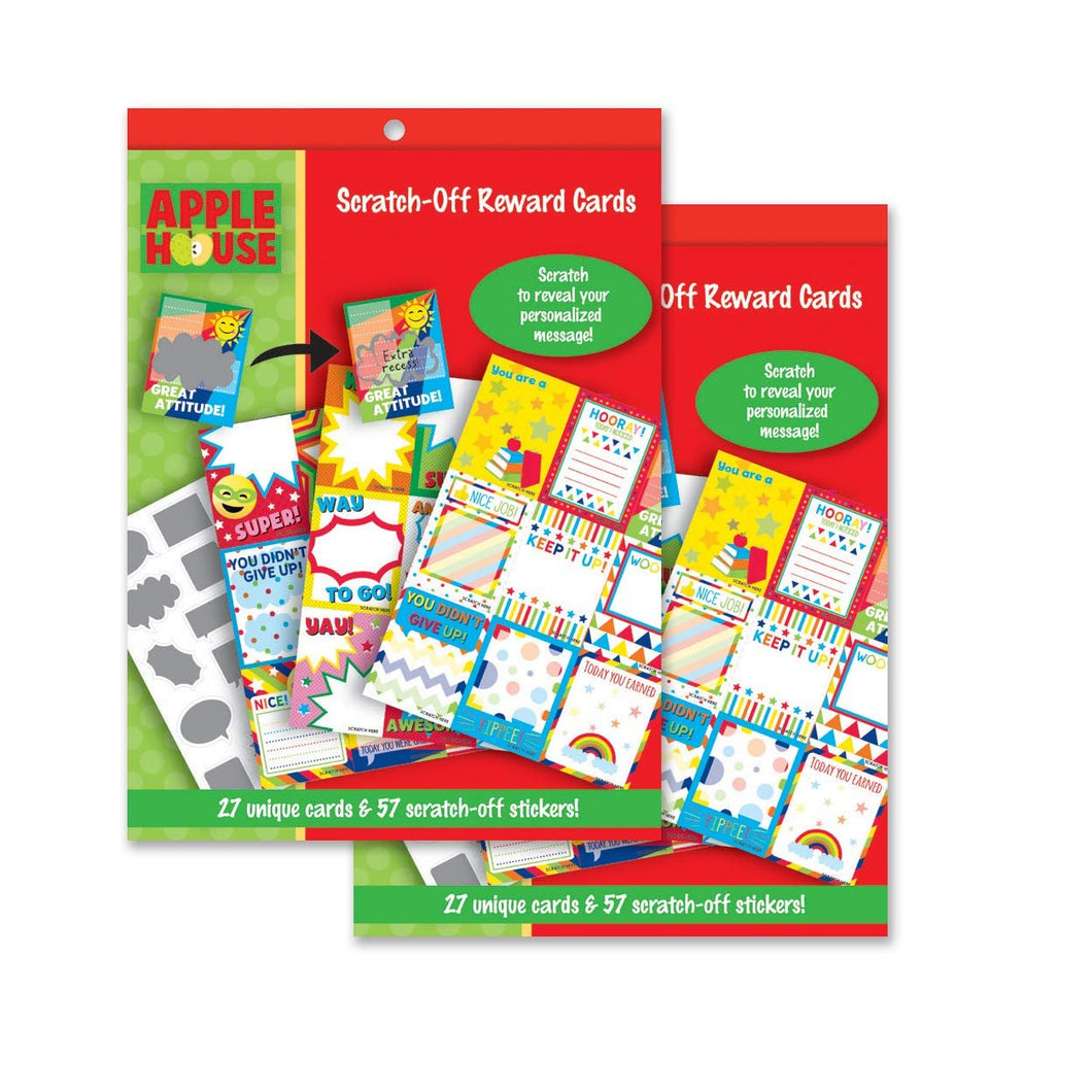 Pack of 2 Scratch-Off Reward Card Packs for Children