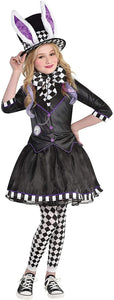 Party City Dark Mad Hatter Costume for Children, Includes a Dress with Jacket, Tights, a Bow Tie, and a Hat