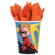 Load image into Gallery viewer, Incredibles 2 Party Pack Seats 16 - Napkins, Plates, Cups, Tablecloth and Stickers - Incredibles 2 Party Supplies, Deluxe Party Pack