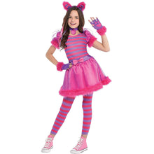 Load image into Gallery viewer, AMSCAN Cheshire Cat Halloween Costume for Girls, Large, with Included Accessories