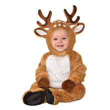 Load image into Gallery viewer, Suit Yourself Cozy Deer Costume for Babies, Size 12-24 Months, Includes a Soft Jumpsuit, Booties, a Tail, and a Hood