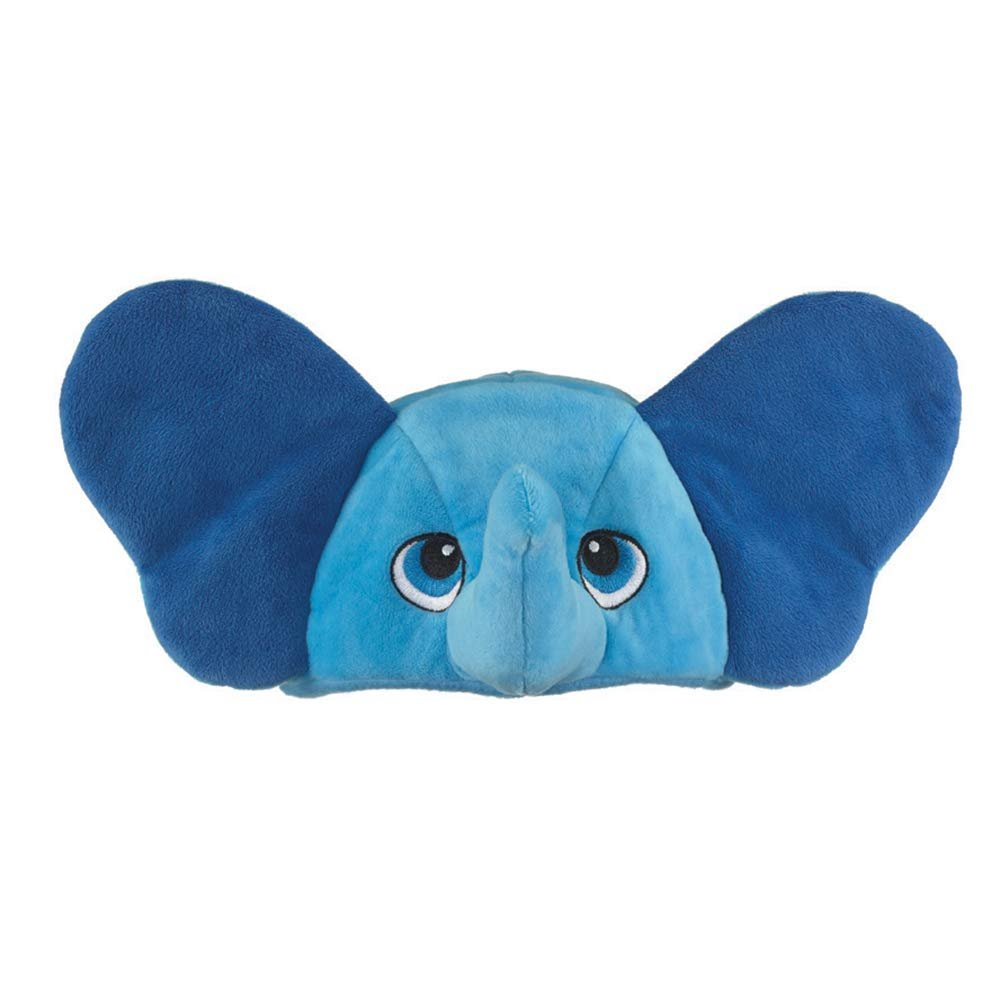 Wild and Wonderful Hats by Wildlife Artists Elephant Plush Stuffed Animal Hat, Childrens Toy Animal Hat