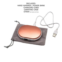 Load image into Gallery viewer, B-THERE 2-in-1 Hand Warmer & USB Power Bank Rechargeable Double Sided with High and Low 5600mAh Battery Charger with Digital Display