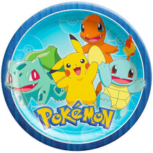 Load image into Gallery viewer, B-THERE Party Pack Bundle of Pokemon Party Supplies, Seats 8 - Napkins, Plates, Cup, Tablecloth and Scene Setter - Pokemon Party Supplies, Deluxe Party Pack