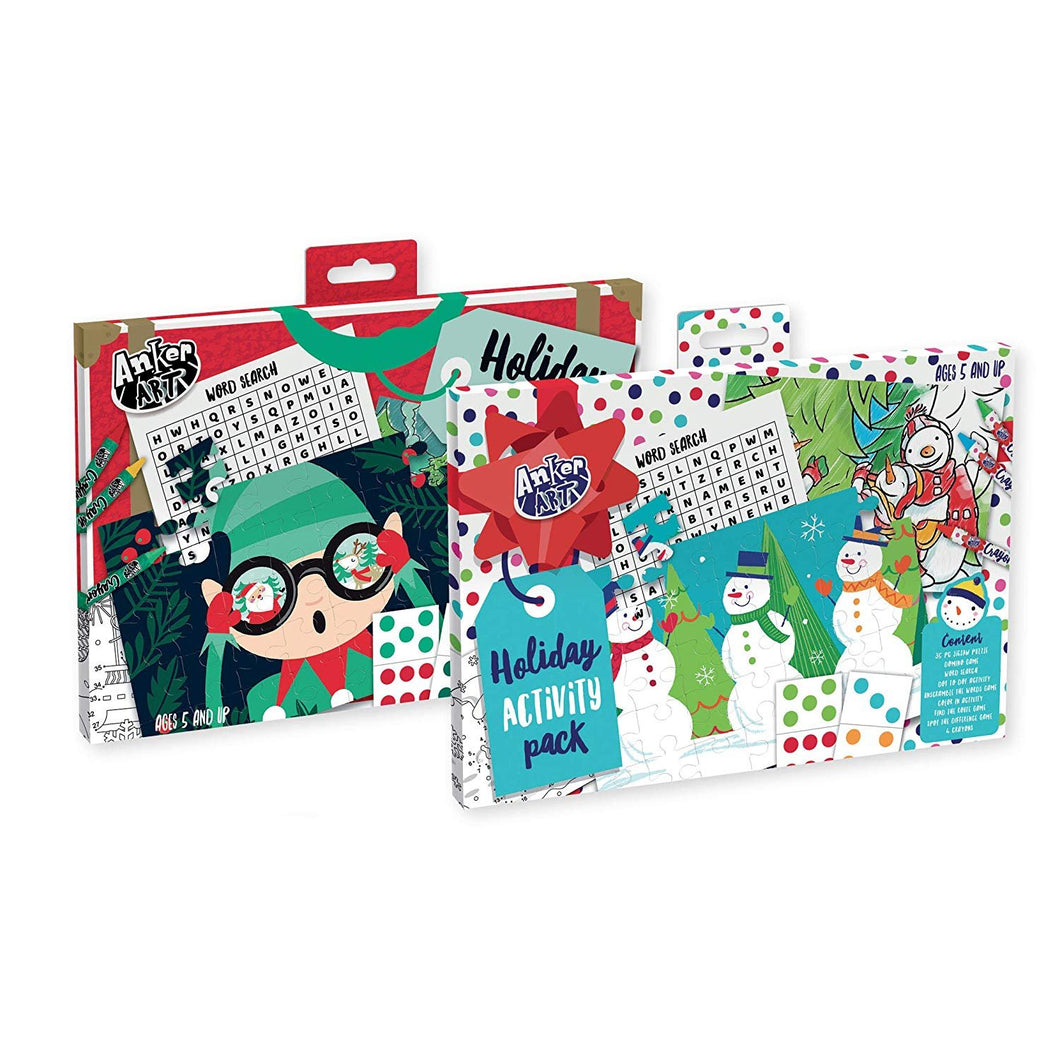 B-THERE Set of 2 Xmas Activity Packs, Christmas Activity Pack. Filled with Fun Activities for The Holidays
