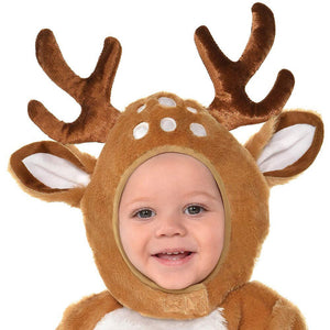 Suit Yourself Cozy Deer Costume for Babies, Size 6-12 Months, Includes a Soft Jumpsuit, Booties, a Tail, and a Hood