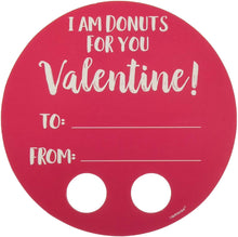 "Load image into Gallery viewer, Amscan Valentine Donut Walker Cards, Party Decors, Multicolor, 4 3/4"" X 4 3/4"", 12Ct"
