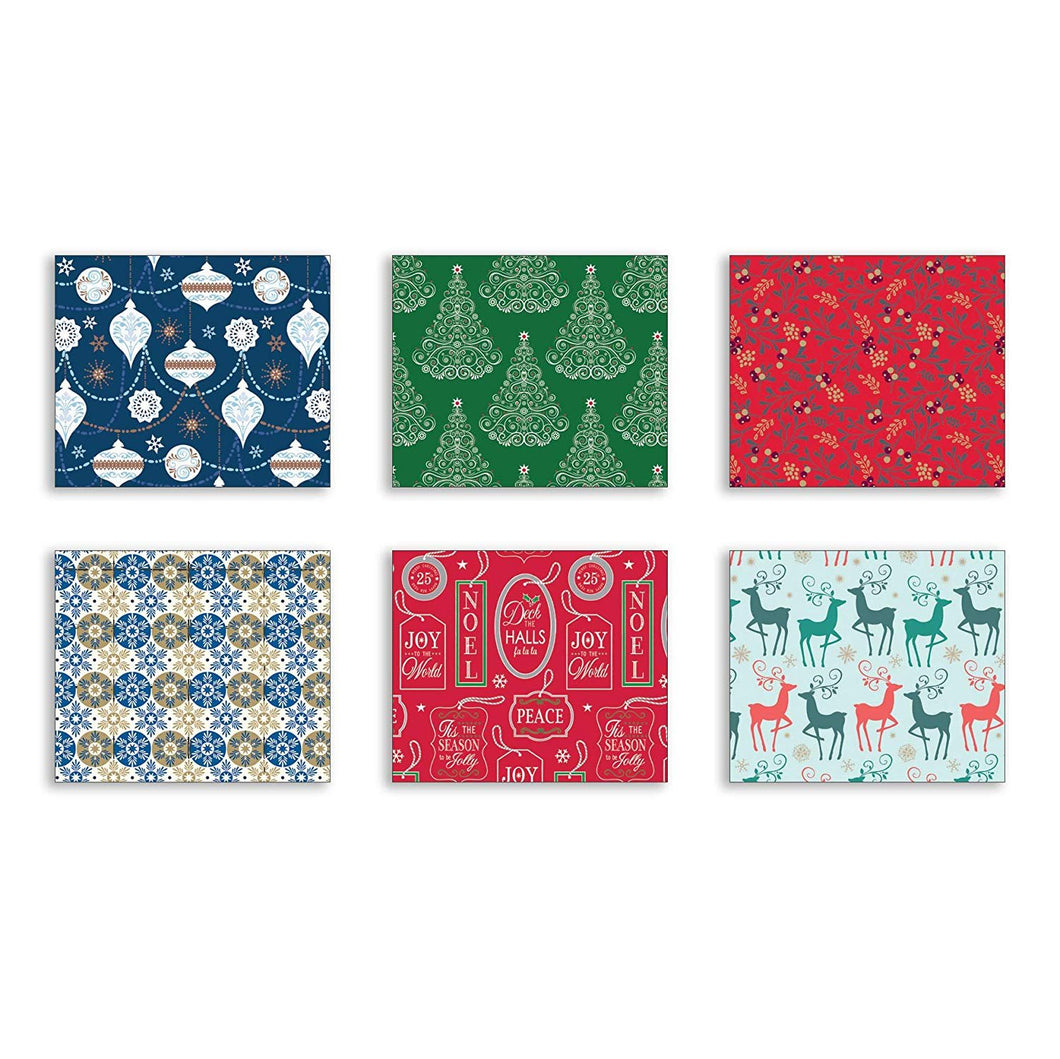 Bundle of 6 Rolls of Christmas Gift Wrapping Paper - Contemporary - 180 Total Sq Ft of Xmas Wrap