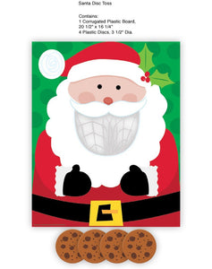 Christmas Party Games for Kids - 2 Holiday Games: Pin The Nose on the Snowman & Santa Disc Toss!