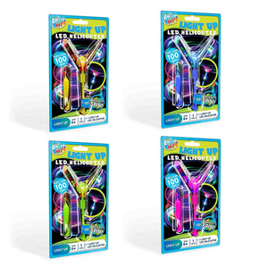 Pack of 4 LED Light Up Helicopters
