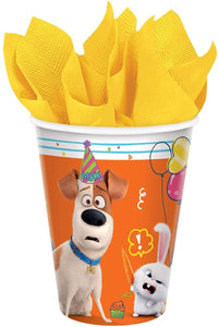 """The Secret Life Of Pets 2"" Orange and White Party Paper Cups 9 Oz, 8 Ct."