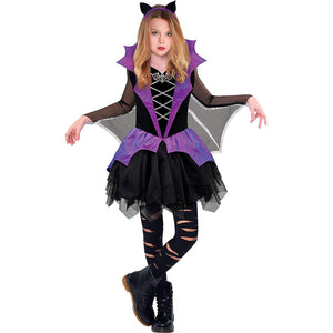 Miss Battiness Vampire Halloween Costume for Girls, Small, with Included Accessories, by Amscan