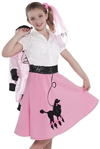 amscan Fabulous '50S Costume Party Poodle Skirt - Child Standard, Pink, Fabric, 14