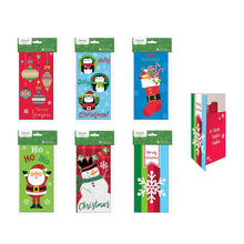 Load image into Gallery viewer, 6 Assorted Embellished Gift Card Money Holder Cards, Set of 6 Cards for Christmas. Penguins, Santa, Snowman and Ornament Designs