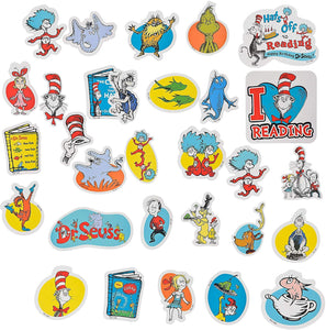 Amscan Dr. Seuss Books Cutouts, Classroom Decorations, Cardstock, 30 Count