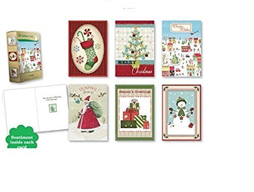 Christmas Holiday Boxed Cards Xmas Box Set Assorted Economical Cards 36 Count