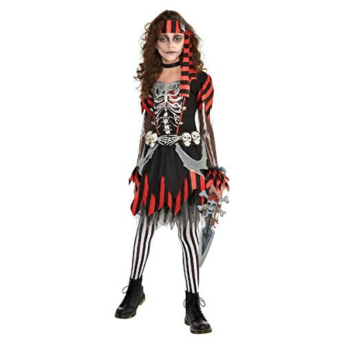 Amscan Girls Skele-Punk Pirate Costume - Small (4-6) Black