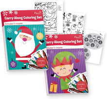 Load image into Gallery viewer, B-THERE Bundle of 2 Carry-Along Christmas Coloring Sets. Xmas Coloring Books - Includes Crayons
