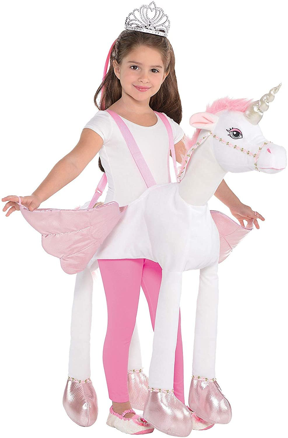 Suit Yourself Unicorn Ride-On Costume for Children, Size Medium, Includes a Detailed Rider Suit and 4 Attached Legs
