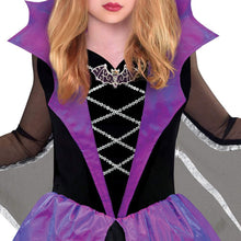 Load image into Gallery viewer, Miss Battiness Vampire Halloween Costume for Girls, Small, with Included Accessories, by Amscan