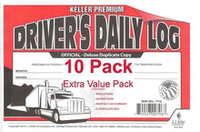 Load image into Gallery viewer, J.J. Keller 8526 701L Duplicate Copy Driver's Daily Log Book Carbonless - Pack of 10
