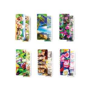 3D Bookmarks for Kids, Boys, Women, Girls, Men Set of 6 Ruler Bookmark with Cats, Dogs, Flowers and More