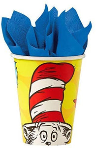 Dr. Suess Party Pack Seats 8 - Napkins, Plates, Cups, Cutlery - Party Supplies Decorations, Standard Party Pack